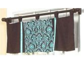 Turquoise and Brown Bella Window Valance by Sweet Jojo Designs (Ababy: 812305012844)