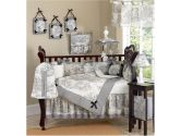 JoJo Designs 9-Piece Baby Crib Infant Bedding Set - Vintage French Black Toile (JoJo Designs: 810519010120)