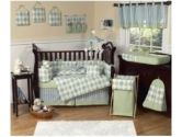 Green and Blue Argyle Accent Floor Rug (Sweet Jojo Designs: 812305014091)