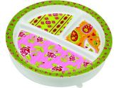 SugarBooger by Ore' Divided Suction Plate Tea Party (SugarBooger by Ore': 732389019020)