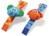 Infantino: Monkey & Elephant Wrist Rattles (Infantino: 773554061321)