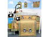 Giant Panda Bear Baby Crib Nursery Bedding Set 13 pcs included Diaper Bag with Changing Pad & Bottle Case (SoHo Designs: 096413429088)