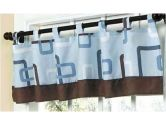 Blue and Brown Geo Window Valance by Sweet Jojo Designs (Sweet Jojo Designs: 810519019307)