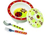 SugarBooger by Ore' Covered Bowl Set Lady Bug (SugarBooger by Ore': 732389019075)