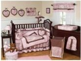 Pink and Brown Mini Polka Dot Accent Floor Rug by Sweet Jojo Designs (Sweet Jojo Designs: 812305016644)