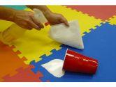 MULTI-COLOR 24 SQFT / 2.23 m2 (6 tiles plus borders) We Sell Mats Anti-Fatigue Interlocking EVA Foam Exercise Gym Flooring EVA Mat (We Sell Mats: 804879091073)
