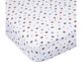 Carters Easy Fit Printed Crib Fitted Sheet, Blue/Ecru (Carter's: 789887500222)