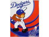 MLB Dodgers Raschel Blanket 40in x 50in - Baby Blanket (MLB: 087918869981)