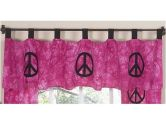 Pink Groovy Peace Sign Tie Dye Window Valance by Sweet Jojo Designs (Sweet Jojo Designs: 812305019140)