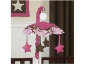 Western Horse Cowgirl Musical Baby Girl Crib Mobile by Sweet Jojo Designs (Sweet Jojo Designs: 812305017320)