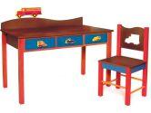 Room Magic Desk/Chair Set, Boys Like Trucks Chocolate (Room Magic: 854652002031)