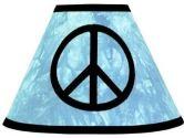 Turquoise Groovy Peace Sign Tie Dye Lamp Shade by Sweet Jojo Designs (Sweet Jojo Designs: 812305019539)