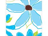 Art4Kids 21678 Pretty Petals Panel II - Blue - Contemporary Mount (Art4Kids: 754103216782)