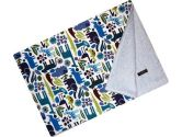 Cuddle Bee Chenille Blanket Blue Zoo (Cuddle Bee: 718122894604)