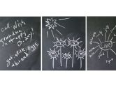 WallCandy Arts Mini Chalkboard, Flat Pack, Black (WallCandy Arts: 898947001583)