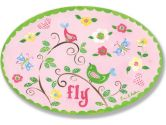 The Kids Room Fly Birds on Branches Oval Wall Plaque (The Kids Room by Stupell: 049182010537)