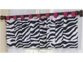 Funky Zebra Window Valance by Sweet Jojo Designs (Sweet Jojo Designs: 810519017938)