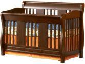 Atlantic Furniture- Versailles Convertible Crib, Antique Walnut (Atlantic Furniture: 782219007345)