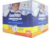 Goodnites Boys Underwear For Nighttime, Small-Medium Size, 40 Count (Goodnites: 036000212013)