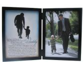 The Grandparent Gift Co. Silhouettes Frame, Walking with Daddy (The Grandparent Gift Co.: 667788300007)