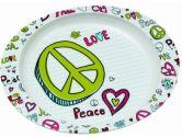 Sugarbooger Deep Dish Plate, Peace Love (SUGARBOOGER: 732389020323)