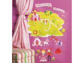 Wallies Peel and Stick Wall Play Mural, Princess Land (Wallies: 714731135299)