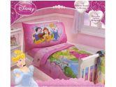 "Disney Princess 4 Piece Toddler Bedding Set ""Princess Hearts"" Collection (Disney: 085214058856)"