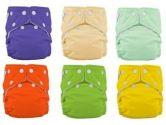 FuzziBunz One Size Diapers 9 Pack Gender Neutral Colors (FuzziBunz: 014353100041)
