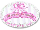 The Kids Room Pink Ballerina Slipper Oval Wall Plaque (The Kids Room by Stupell: 049182005502)