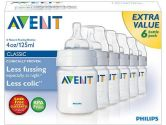 Philips AVENT 4 Oz. BPA Free Bottles - 6 Pack Baby Product (Philips Avent: 075020015709)