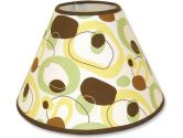 Trend Lab 107916 Giggles Lampshade- Giggles Dot Print Twill With Brown Percale Trim- 4 X 7 X 10 (Trend Lab: 846216012037)