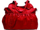OiOi Baby Leatherette Tote, Red (OiOi: 710434121805)