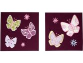 Kimberly Grant- Bohemian Butterfly 2 Piece Canvas Art (Kimberly Grant: 085214059075)