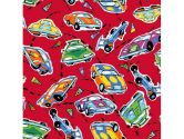 SheetWorld Crib / Toddler Sheet - Race Cars Red - 28 inches x 52 inches (71.1 cm x 132.1 cm) - Made In USA (sheetworld: 793573765666)