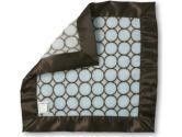 SwaddleDesigns Fuzzy Baby Lovie Blanket, Brown Mod Circles, 1 Pack (SwaddleDesigns: 810284012169)