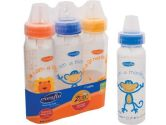 Evenflo Zoo Friends Decorated BPA FREE Bottles- 8oz - 3pk - GIRL COLOROS (Evenflo: 032884150144)