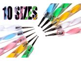 "5 x 2 Way Dotting Marbleizing Pen Set with ""Hello Kitty"" Gold Nail Art Decora... (Quality Deals: 628586916388)"