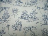SheetWorld Fitted Crib / Toddler Sheet - Blue Teddy Toile - Made In USA - 28 inches x 52 inches (71.1 cm x 132.1 cm) (sheetworld: 855882002051)