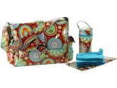 Kalencom Gypsy Laminated Diaper Bag - Paisley Red (Unknown: 088161351094)