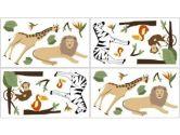 Jungle Adventure Wall Decal Stickers by Sweet Jojo Designs - Set of 4 Sheets (Sweet Jojo Designs: 846480009924)