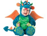 Lil Characters Unisex-baby Infant Dragon Costume, Large, 18 Months, 2T, Teal/Green (Incharacter: 843269017453)