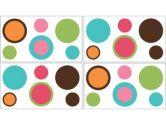 Deco Dot Wall Decal Stickers by Sweet Jojo Designs - Set of 4 Sheets (Sweet Jojo Designs: 846480009801)