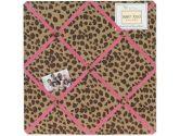 Cheetah Girl Pink and Brown Fabric Memory/Memo Photo Bulletin Board by Sweet Jojo Designs (Sweet Jojo Designs: 846480007265)