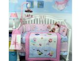 SoHo Mermaids Baby Crib Nursery Bedding Set 14 pcs included Diaper Bag with Changing Pad, Accessory Case & Bottle Case (SoHo Designs: 882864218506)