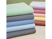 Gingham Crib Sheets - Set of 6 - Color: Light Blue Style: Flat (Baby Doll: 009243052746)