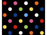 SheetWorld Crib / Toddler Sheet - Primary Colorful Dots Black Woven - 28 inches x 52 inches (71.1 cm x 132.1 cm) - Made In USA (sheetworld: 054682060586)