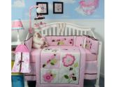 SoHo Ladybug Party Baby Crib Nursery Bedding Set 14 pcs included Diaper Bag with Changing Pad, Accessory Case & Bottle Case (SoHo Designs: 882864218490)