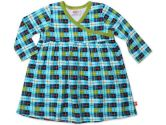 O'Reilly Check Long Sleeve Wrap Baby Dress- Multi - 18M (Zutano: 754155328266)