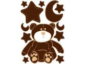 Brown Teddy Bear Wall Decals Stickers (Presto Wall Decals: 850013002771)