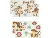CoCo & Company Melanie The Monkey Removable Wall Appliques (Cocalo: 680601316405)